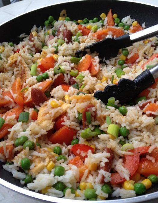 Gebratener Reis mit Cabanossi