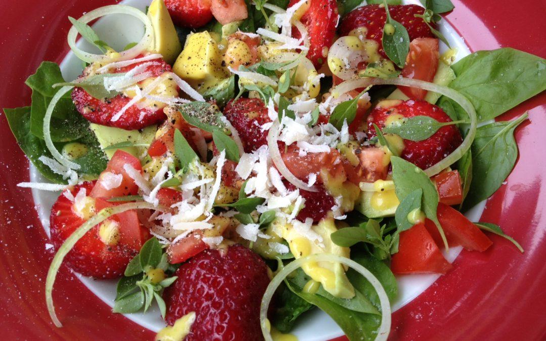 Spinatsalat – einmal anders