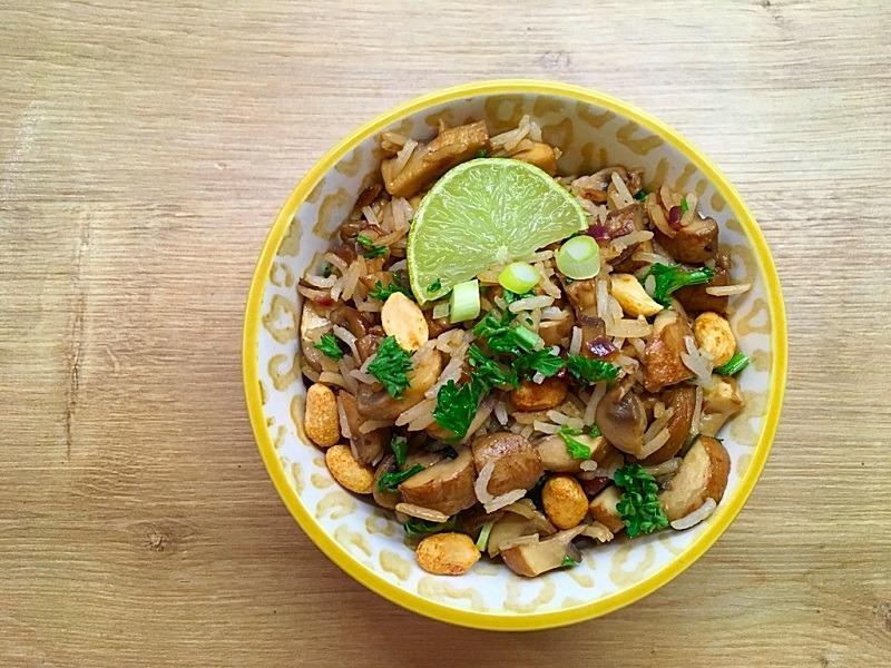 Pikanter Pilz-Reis-Salat