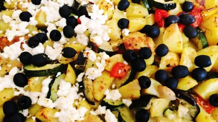 Gemeinsame Kochen: Ofengemüse mit Hähnchenbrustfilet