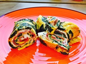Spinat-Lachs-Omelett