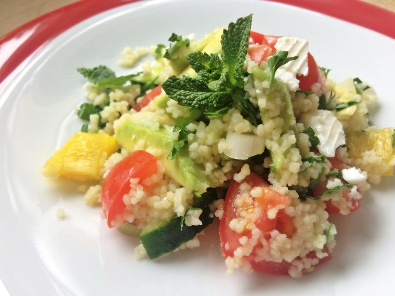 Couscous-Salat mit Avocado