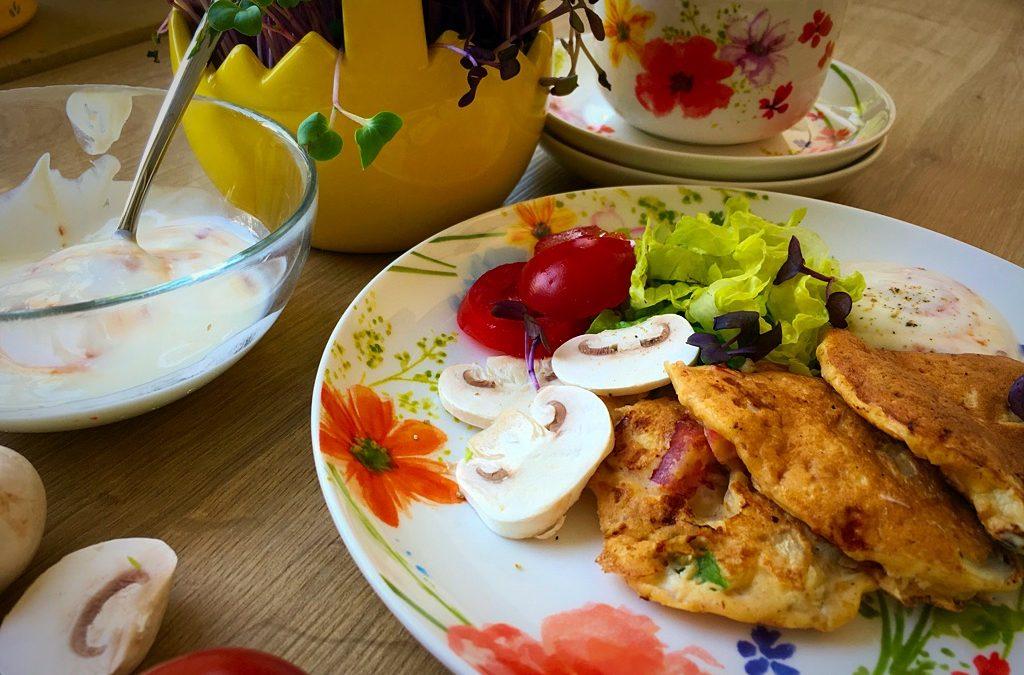 Gesundes Frühstück – Dinkelpfannkuchen