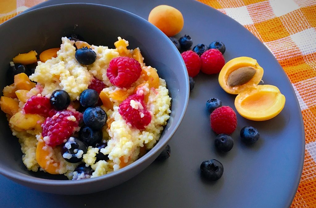 Gesundes Frühstück – Hirsebrei mit Früchten