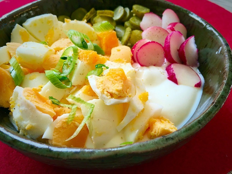 Eiersalat mit Radieschen I 5ünf I einfach und lecker